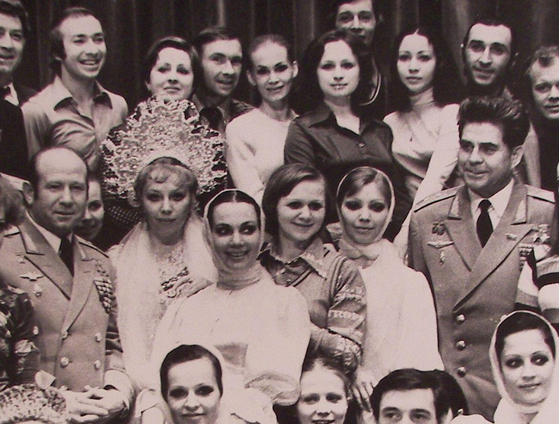 С космонавтами Леоновым и Береговым